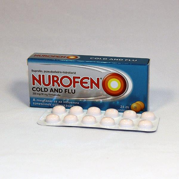 Nurofen Cold and Flu 200 mg/30 mg filmtabletta